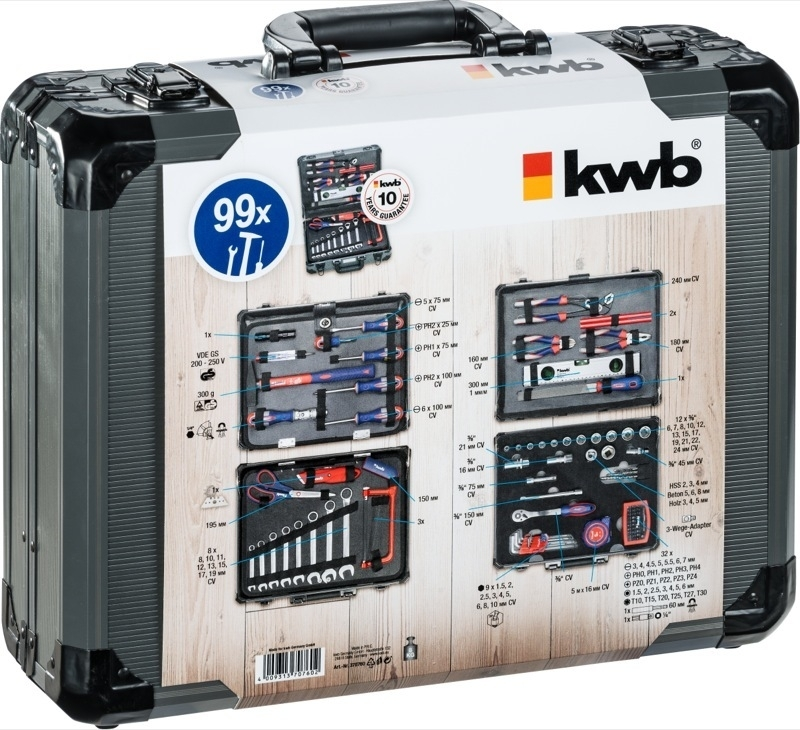 KWB Gereedschapskoffer 99 delig