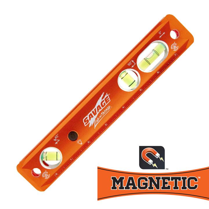 Savage Torpedo waterpas met neodymium magneten en Verlichting !