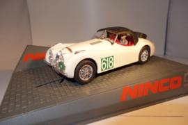 Ninco Jaguar XK-120  'Rally Alpes'   Helder -wit.  Nr. 50566 in OVP. Nieuw!