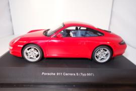 1:24  Porsche 911 Carrera S ( Typ 997)  rood nr. 14121