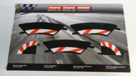 Carrera Excl./Evo./Digi  set binnen-slipstroken rood/wit t.b.v. bocht 1/60.   Nr. 20551. in OVP
