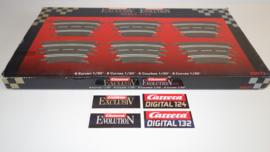 Carrera ExclusiV/Evolution/Digital OVP met 6 x bocht 1/30 nr. 20577 *4