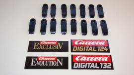 Carrera 15-delige zwarte kunststof baan montage clips.