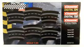 Carrera Excl./Evo./Digi  set 6 x bocht 2/30  *3.   Nr. 20572. in OVP