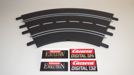 Carrera ExclusiV/ Evolution/ Digital bocht 1/60⁰  nr. 20571.    4*
