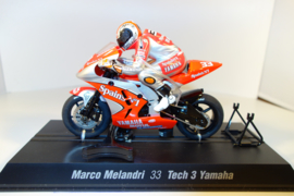 Scalextric MotoGP Yamaha.  Coureur Marco Melandri.  nr C6017 in OVP.