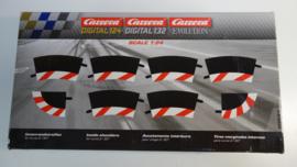 Carrera Excl./Evo./Digi  set binnen-slipstroken rood/wit t.b.v. bocht 2/30.   Nr. 20591. in OVP