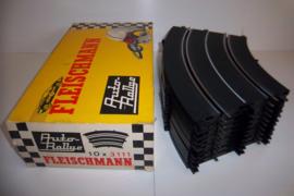 Fleischmann Auto-Rallye. Bocht 3111.  10 stuks in OVP geel