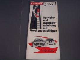 Zwart/wit handleiding Carrera Servo 132.  Duits