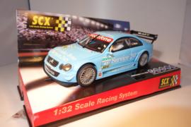"""SCX Mercedes CLK DTM """"Mücke"""" licht-blauw. Ref. nr. : 61400.  Nieuw in OVP."""