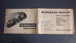 Märklin Sprint.  Zwart/wit handleiding uit startset 1970