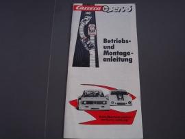 Zwart/wit handleiding Carrera Servo 140.  Duits