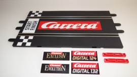 Carrera ExclusiV/Evolution/Digital  recht baandeel met groot Carrera logo en start/finsh balk.