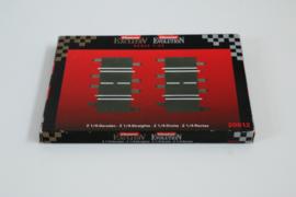 Carrera ExclusiV/ Evolution/ Digital OVP met 2x passtuk 1/4 recht nr. 20612. 4*