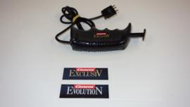 Carrera ExclusiV analoge regelaar zwart met gladsnoer. nr. 20708  2,5mm