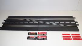 Carrera ExclusiV/Evolution Digital baanwissel-set  rechts nr. 30345.   3*