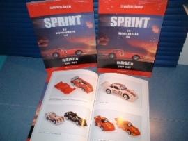 Märklin Sprint.  Boek: Sprint, die Autorennbahn von Märklin