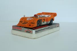 Fleischmann Auto-Rallye. Canam oranje met chrome spiegels nr. 3203 in OVP.