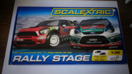 Scalextric startset Rally Stage C1295 nieuw in OVP.