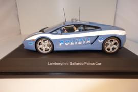 1:24  Lamborghini Gallardo Polizia blauw/wit  nr. 14741