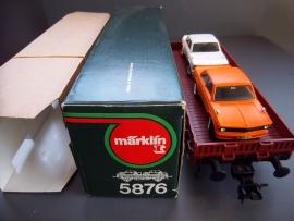 Märklin Sprint.  Spoor 1 wagon incl. 2 BMW's 2002  nr. 5876