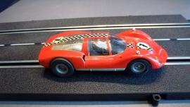 Fleischmann Auto-Rallye. Porsche Carrera 6  rood  nr. 3220
