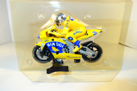Scalextric MotoGP Honda.  Coureur Max Biaggi.  nr C6001 in OVP.