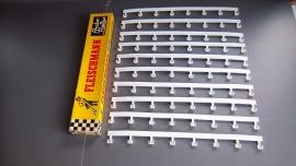 Fleischmann Auto-Rallye.  10 x vangrails 3400/3170 in OVP geel