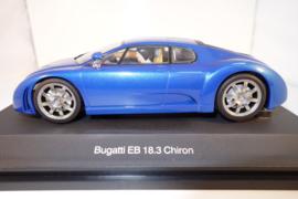1:24  Bugatti EB 18.3 Chiron blauw metallic  nr. 14161