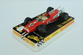 Fleischmann Auto-Rallye. Ferrari Rood 24-spaaks nr. 3200 in OVP. Nieuw + Gestempeld