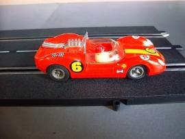 Fleischmann Auto-Rallye. Ford Lotus oranje nr. 3210