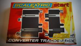 Scalextric Start  Converter set: 4 x overgangstuk  C8252.  Nieuw in OVP