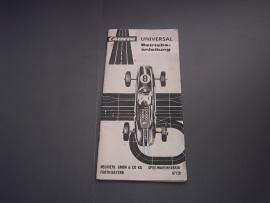 Zwart/wit handleiding nr. 67128 + uitvouwblad.  Duits