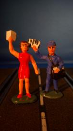 2 programmaverkopers, man en vrouw