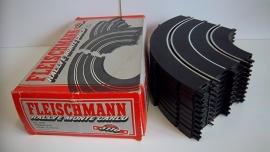 Fleischmann Auto-Rallye.  Bocht 3110.  10 stuks in OVP grijs.