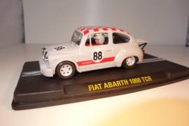 ReproTec Fiat Abarth 1000 TCR Licht-grijs met rood geblokt dak. nr.1950 in OVP