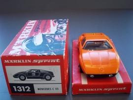 Märklin Sprint.  Mercedes C111 oranje  nr. 1312