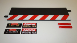 Carrera ExclusiV/Evolution/Digital  slipstrook rood/wit recht nr. 20560  tbv recht baandeel