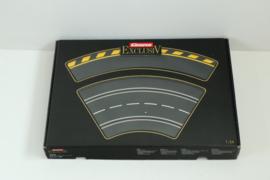 Carrera ExclusiV/ Evolution/ Digital OVP 3 x Bocht 1/ 60 mét slipstrook geel/zwart  nr. 20502 *4 in OVP!