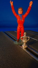 Winnaar in rode race overall mét beker