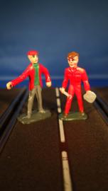 rode monteur en 1 toeschouwer
