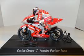 Scalextric MotoGP Yamaha.  Coureur Carlos Checa.  nr C6006 in OVP.