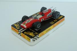 Fleischmann Auto-Rallye. Ferrari Rood 16-spaaks nr. 3200 in OVP. Nieuw + Gestempeld