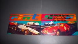 Märklin Sprint.  Kleuren folder 1970 Zweeds !