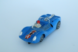 Fleischmann Auto-Rallye. Ford Lotus blauw nr. 3210 Caltex logo
