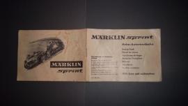 Märklin Sprint.  Zwart/wit handleiding uit startset 1968