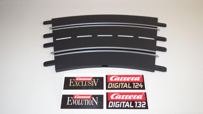 Carrera ExclusiV/Evolution/Digital  bocht 2/30⁰  nr. 20572.   4*