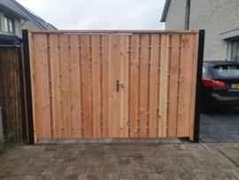 Douglas houten poorten dubbel