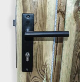 RVS slot (Zwart) deurbeslag cilinderslot
