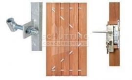 Hard houten poorten enkel